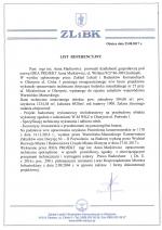 List referencyjny Olsztyn ZLiBK
